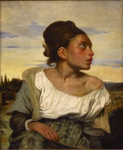 """Orphan Girl at the cemetery"" by Eugène Delacroix, c. 1823 - 1824"